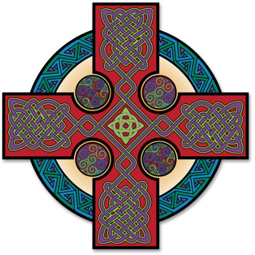 Irish Celtic Cross Decal Vinyl Window Sticker
