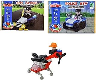 My BLOX Bundle Includes: Police ATV 23 Pc. and City Patrol 27 Pc. Construction Blocks