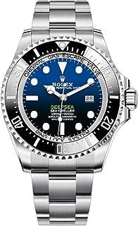 Rolex 44mm Men's Deepsea Sea-Dweller Stainless Steel New Style Oyster Band Model 126660 Black Ceramic Bezel Black & Blue Dial