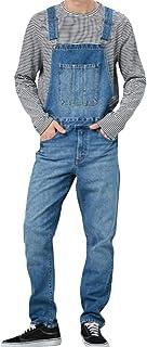 Allthemen Mens Denim Overalls Casual Retro Bib Jeans Regular Fit Dungarees Jeans Jumpsuit with Pockets