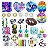 Fidget Toy Pack,Set di Giocattoli Sensoriali Agitarsi,Antistress, Alleviano L'Ansia,Fidget Kit Antistress Giocattolo per Bambini Adulti