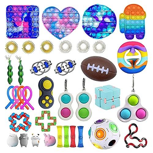 2021 Fidget Toy Set,Fidget Toy Set Box für Kinder oder Erwachsene,Antistress Spielzeug Anxiety Toy für Stressabbau und Anti-Angst,Fidget Toys Pack für Geburtstagsfeier,Klassenbelohnungen