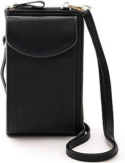 AIRUI Handy Umhängetasche, Damen PU Leder Handytasche Geldbörse mit Kartenfächer Verstellbar Abnehmbar Schultergurt für Ha...