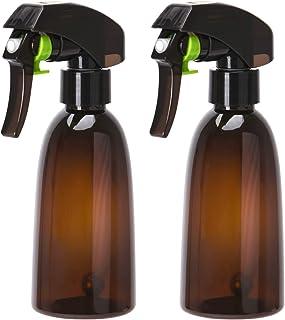 Noverlife 200ml/7oz Fine Mist Amber Spray Bottle for Hair Stylist Barber, 360° All-Angle Trigger Spray with Steel Ball, Pl...