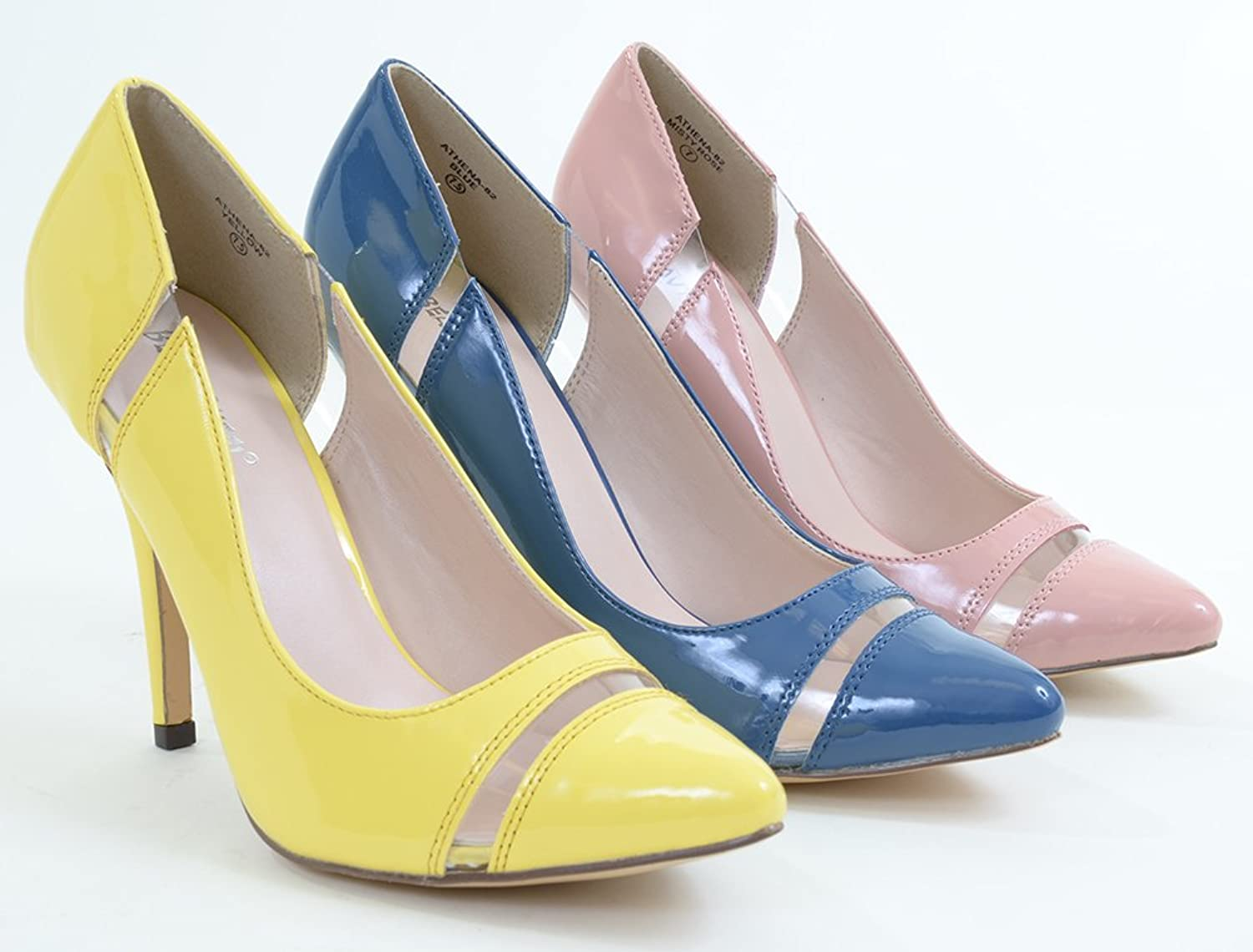 Fourever Funky Clear Patent Pointy-Toe Classic Pump