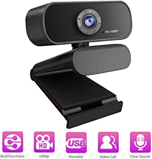 Webcam with Microphone,1080P HD Webcam USB Laptop Desktop Pc Web Camera for Video Calling & Recording Video Conference,Computer HD Streaming Camera