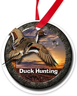 CafePress Duck Hunting Round Christmas Ornament