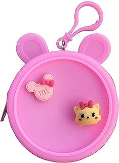 KC Lovely Cute Baby Unicorno Multi-Function Mini Coin Purse Bag for Earphone Lipsticks Headphone Pendrive Keys (White)