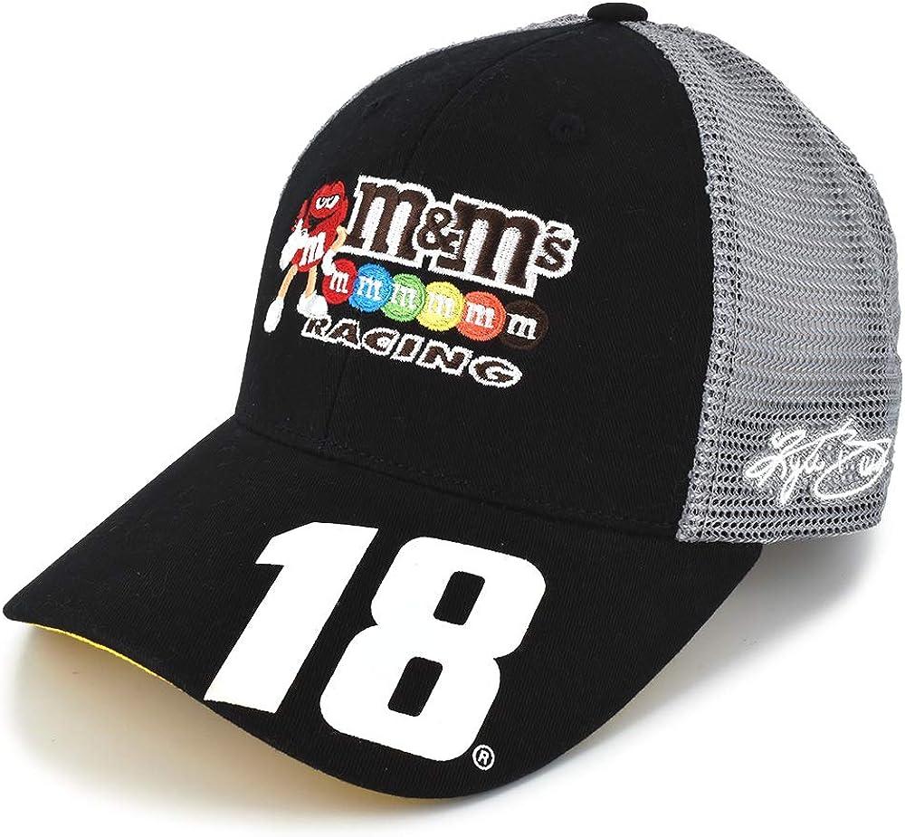 Checkered Flag Kyle Busch Sponsor #18 Team Hat Black, Gray