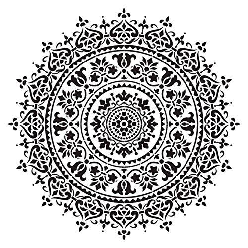 dyudyrujdtry pragmatische grootte DIY Craft Layering Mandala sjabloon voor muurschildering Scrapbooking stempelen album decoratieve reliëf papier kaart 1 exemplaar