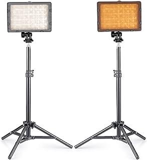 Neewer® Photo Studio CN-216 Kit de iluminación LED para cámaras réflex digitales Canon Nikon Pentax Panasonic Sony Samsung y Olympus incluye 2 luces LED CN-216 de vídeo + (2) soporte de luz mini de 32 pulgadas / 80 cm