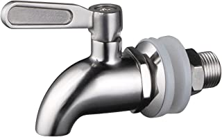 Stainless Works SSS010 Stainless Steel Beverage Dispenser Replacement Spigot Fits 16mm opening