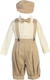 iGirldress Little Boys' Suspender Linen Knickers hat Sizes 3-6 mos-5