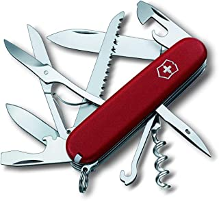 Victorinox Huntsman - Cuchillo (98 g, 9,1 cm, 21 mm, 27 mm, Rojo, Acero Inoxidable)