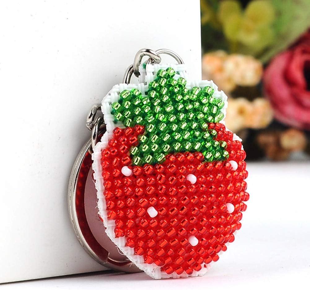 pendentif porte-cl/és avec broderie au point de croix Kit de peinture diamant 5D pour adultes Perles compl/ètes /à faire soi-m/ême