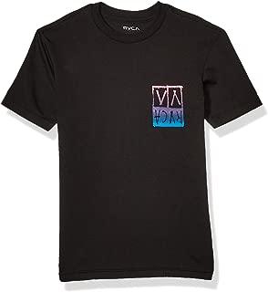 RVCA Boys B401WRUN Unplugged Short Sleeve Crew Neck T-Shirt Short Sleeve T-Shirt