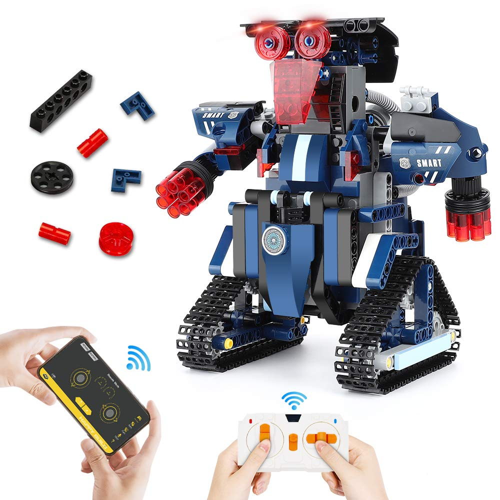 STEM Robot Toys for Kids, Building Block Kits Creative Construction Bricks 367PCS Set RC Robot Rechargeable APP Controlled Programmable Robot Best Gift for Kids Age 8 Years Old and up Boys and Girls