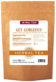 Sponsored Ad - The Republic of Tea Be Well Rooibos Red Tea - Get Gorgeous - Herbal Tea For Clear Skin, 36 Tea Bag Refill, ...