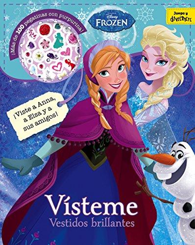 Frozen. Vísteme. Vestidos brillantes: Adhesivos con purpurina (Disney. Frozen)