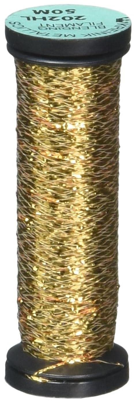 Kreinik Blending Filament 50m Metallic Thread for Sewing, 55-Yard, Aztec Gold