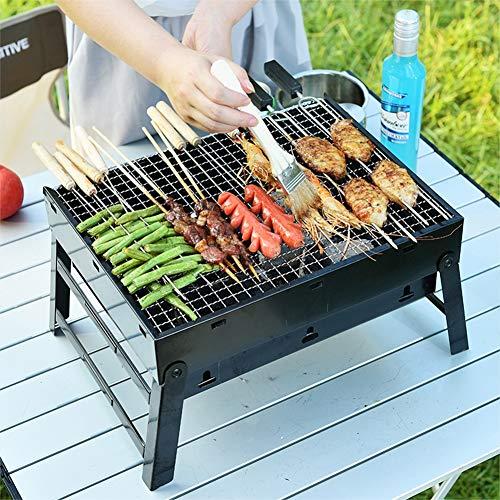 LICHUXIN im Freien Holzkohle gegrillt tragbarer Grill Camping Picknick Platz Portable Edelstahl leicht, nachdem das Auto einfach Grill platziert zu installierende,Large