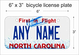 ATD North Carolina State Replica Novelty License Plate Mini License Plate for Bicycles, Bikes, Wheelchairs, Golf Carts Personalized with Your Design Custom Vanity Decorative Plate