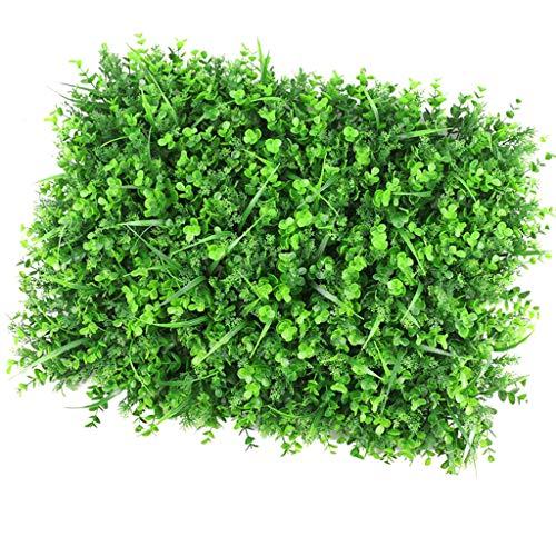 Paneles De Setos Artificiales, Césped Artificial Faux Grass Arbustos Topiary Mat Greenery Telón De Fondo De Pared Jardín Interior - 3 tipos de hierba