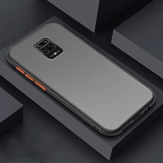WTech غطاء خلفي صلب مقاوم للصدمات وناعم مطاطي غير لامع لهاتف Xiaomi Redmi Mi Note 9 Pro (أسود)