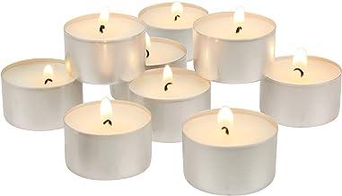 Stonebriar DTL-100-6 Unscented Tea Light Candles, 6-7 Hour Burn Time, White, 100 Pack, 100 Count