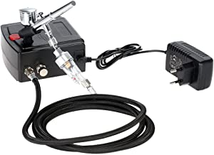 KKmoon Double Action Airbrush Set Airbrushpistole mit Mini Leise Kompressor für Kunst..