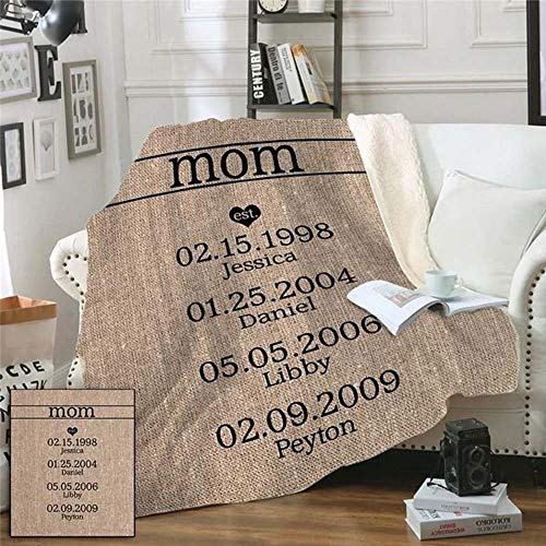 Mom Established Personalized Sherpa Blanket