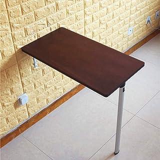 WQSQ Table De Salle À Manger Pliante Table Murale Rabattable en Bois Massif Table Enfant pour Petit Espace Petit Bureau Re...