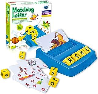 piberagi Matching Letter Game for Kids Letter Spelling and Reading Game for Preschool Kindergarten 3 and 4 Letter Picture ...