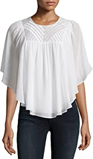 Joie Patel Embroidered Silk Georgette Blouse, Porcelain - Size XSmall