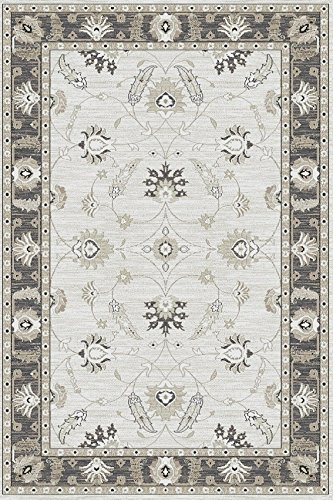 Erdenet Carpet Tappeto Design Orientale Classico 200x300 cm Pura Lana, Grigio. (200_x_300)