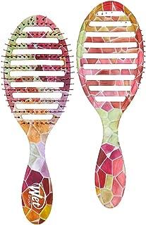 Wet Brush Speed Dry Detangling Hairbrush with Soft IntelliFlex Bristles, Detangler for All Hair Types – (Pink Slate)