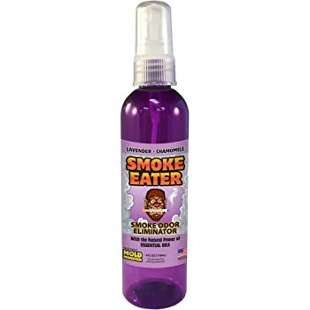 Smoke Eater - Breaks Down Smoke Odor at The Molecular Level - Eliminates Cigarette, Cigar or Pot Smoke On Clothes, in Cars, Boats, Homes, and Office - 4 oz Travel Spray Bottle (Lavender)