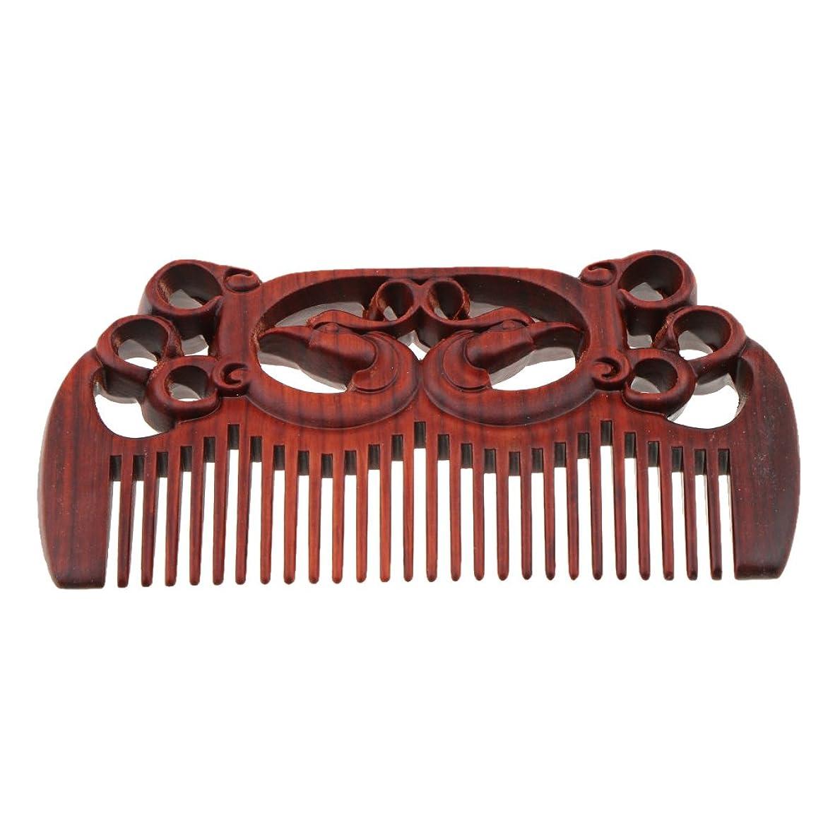 バンクつかいます高音Fenteer 木製櫛 頭皮マッサージ 櫛 ワイド歯 ヘアコーム ヘアブラシ ヘアスタイリング 高品質 2タイプ選べる - #1