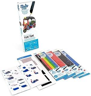 3Doodler Create 4 Pack Plastic Bundle with Tuk-Tuk Stencil (3D Pen Not Included)