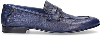 FABI Men's 9289BL Blue Leather Loafers