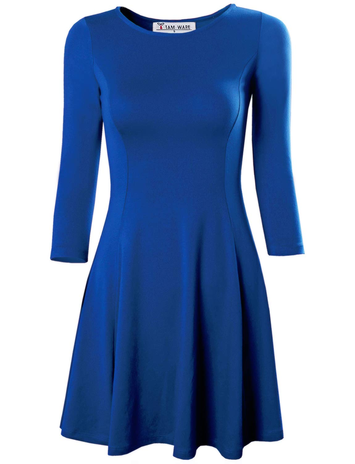 Available at Amazon: TAM WARE Women's Casual Slim Fit and Flare Round Neckline Dress