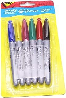 6PCS Skin Marker Pen Tattoo Piercing Pen Supply Tool Body Art