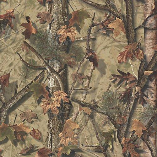 Chesapeake TLL01461 Sawgrass Camo Forest Wallpaper, Brown