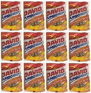David Jumbo Sunflower Seeds Roasted & Salted Jalapeno Hot Salsa Flavor: 12 - 5.25 Oz