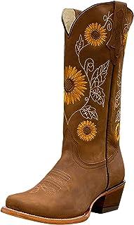 DAIFINEY Dames winterlaarzen hoge laarzen borduurwerk retro etnische stijl met blokhak halve laarzen laarzen laarzen booti...