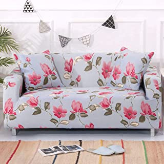 Umineux Printed Sofa Cover High Stretch Sofa Slipcovers Couch All Cover Furniture Protector for Couches and Loveseats with Two Pillow Covers (Peach Blossom, Loveseat)
