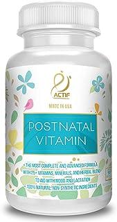 Actif Organic Postnatal Vitamin with 25+ Organic Vitamins and Organic Herbs, Nursing and Lactation Supplement, Non-GMO, Ma...