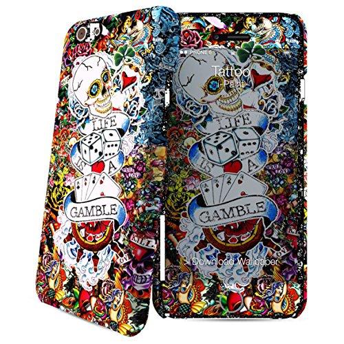 i-Paint 600510 Cover Hard Case iPhone 6/6S, Modello Tattoo