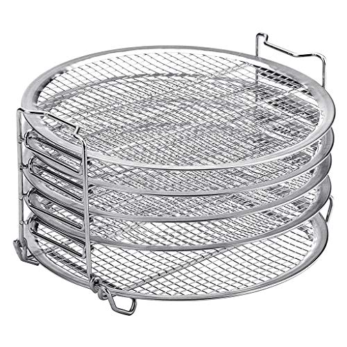 Save %11 Now! YOYOHOT 1 Pc Dehydrator Grill 5 Stackable Layer Dehydrator Grill Stand Stainless Steel...
