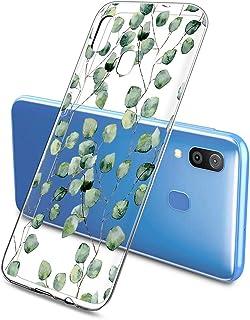 Suhctup Compatible con Samsung Galaxy J6 Prime/J6 Plus/J610 Funda Flor de TPU Transparente Diseño de Flores Patrón Cárcasa...